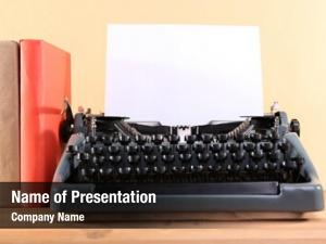 Machine vintage typewriter table