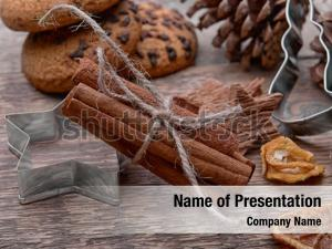 Composition of cinnamon powerpoint background