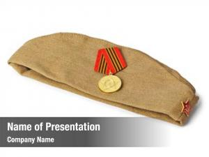 Soldiers soviet army forage cap medal
