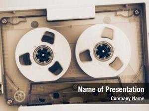 Audio rewinding vintage tape compact