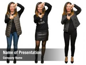 Fashion collage beautiful middle age