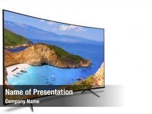 White tv, panoramic,