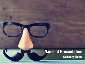 Nose fake mustache, eyeglasses rustic