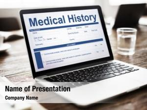 Record medical report form history
