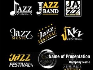 Logos jazz festival set black