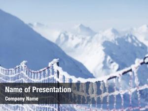 Alpine protective net skiing track
