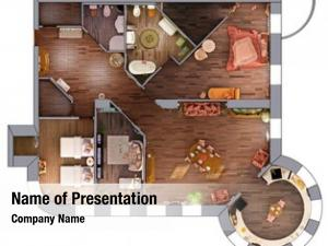Project home interior plan (3d