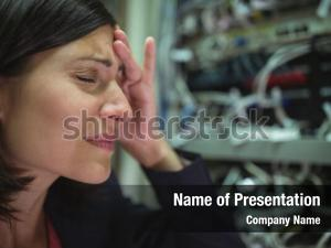 Stressed technician getting
