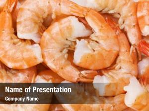 Food cooked shrimps closeup