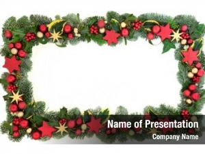 Border decorative christmas red gold