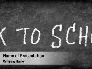 Blackboard back school chalkboard text
