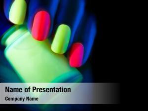 Woman fashion model nails neon