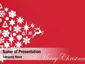 White merry christmas silver tree