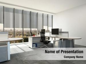 Plan modern open office large