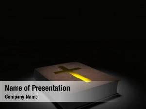 Golden holy bible cross