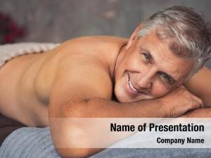 Man smiling senior lying front