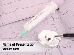 Syringe ecg, stethoscope