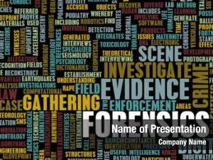 Science forensics forensic concept