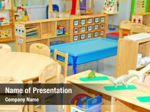 Early colorful classroom education
