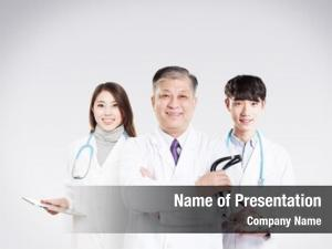 Man old asian doctor young