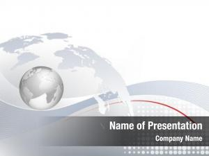 Silver world map globe business