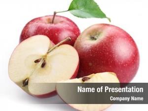 Apple two red leaf apple