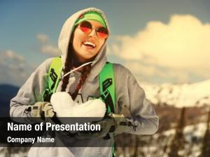 Snowboarder snowboarding winter sport
