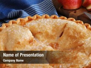 Apple freshly baked pie sliced