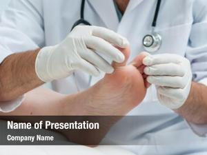 Examines doctor dermatologist foot presence