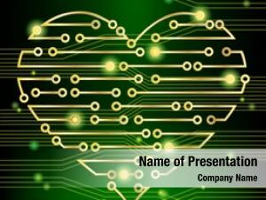 Heart circuit board concept, demonstrating
