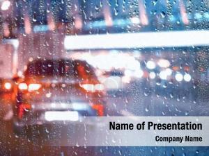 Glass, drops rain autumn weather