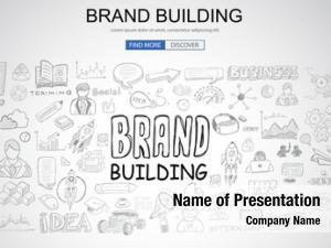 Concept brand building business doodle