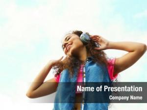 Woman african american listening music