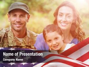 Man portrait army family against