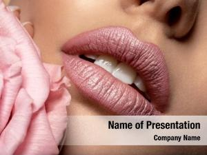 Female closeup sexy lips pearl