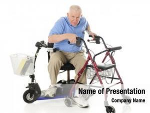 Transferring senior man his electric