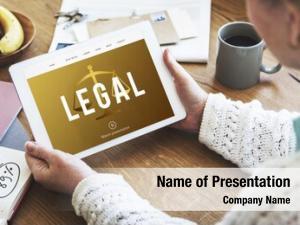 Right legal court case concept