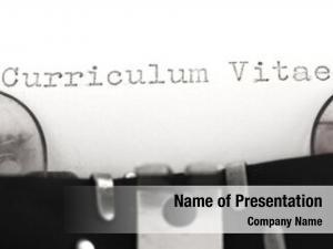 Typewriter curriculum vitae