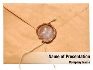 Envelope sealed brown white