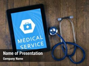 Table, tablet pc doctor concept medical