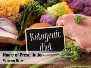 Text closeup signboard ketogenic diet,