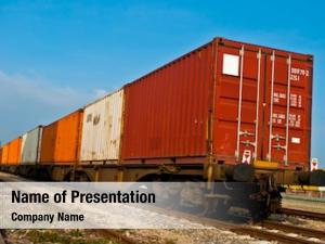Train container loaded wagons railway