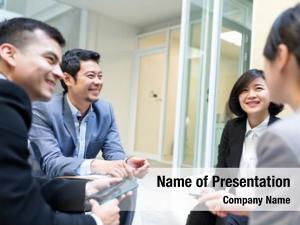 Having corporate people business meeting