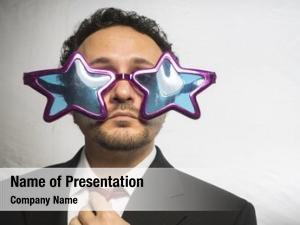 Glasses celebrity, businessman stars, crazy