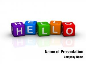 Colorful hello (from buzzword series)