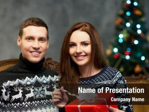 Couple with a christmas presents