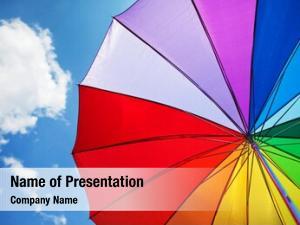 Sky rainbow umbrella