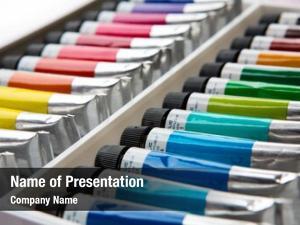 Paints colorful acrylic tubes