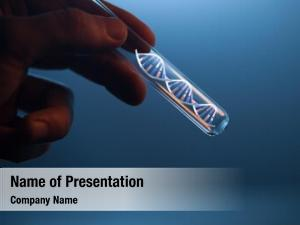 Glass dna molecule tube hand