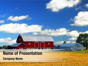 Red rural lanscape barn rural